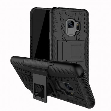 """Hybridní gelový TPU obal """"Tough"""" pro Samsung Galaxy S9 Plus - černý"""