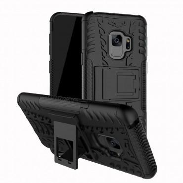 """Hybridní kryt TPU gel """"Tough"""" pro Samsung Galaxy S9 Plus - černé"""