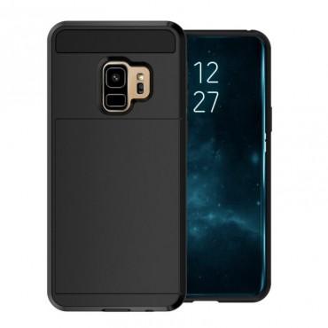 """Hybridní kryt TPU gel """"Slot"""" pro Samsung Galaxy S9 Plus - černé"""