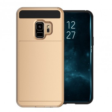 """Hybridní gelový TPU obal """"Slot"""" pro Samsung Galaxy S9 Plus - zlaté barvy"""