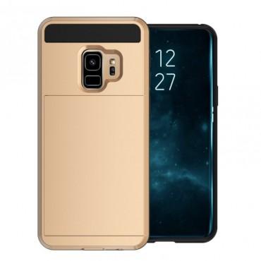 """Hybridní kryt TPU gel """"Slot"""" pro Samsung Galaxy S9 Plus - zlatý"""