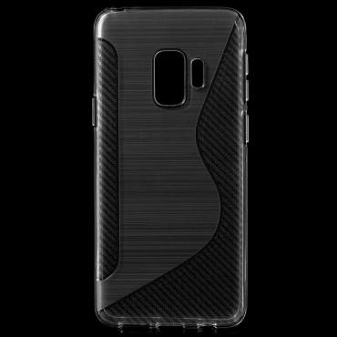 "Kryt TPU gel ""S-Line"" pro Samsung Galaxy S9 - průhledný"
