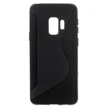 """TPU gelový obal """"S-Line"""" Samsung Galaxy S9 - černý"""