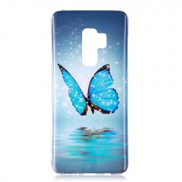 """Fluorescenční obal """"Blue Butterfly"""" pro Samsung Galaxy S9"""
