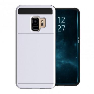 """Hybridní gelový TPU obal """"Slot"""" pro Samsung Galaxy S9 - bílý"""