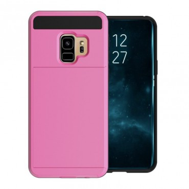 """Hybridní gelový TPU obal """"Slot"""" pro Samsung Galaxy S9 - růžový"""