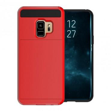 """Hybridní kryt TPU gel """"Slot"""" pro Samsung Galaxy S9 - červené"""
