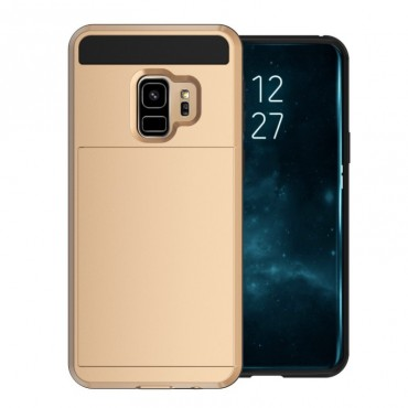 """Hybridní kryt TPU gel """"Slot"""" pro Samsung Galaxy S9 - zlatý"""