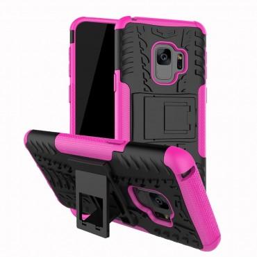 """Hybridní kryt TPU gel """"Tough"""" pro Samsung Galaxy S9 - růžový"""