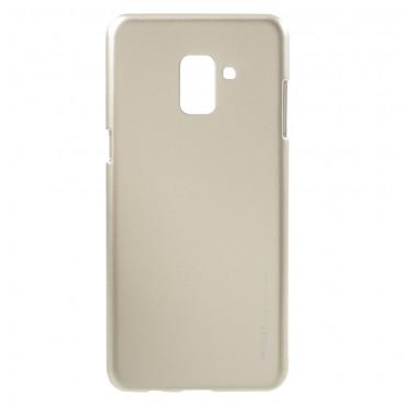 Kryt TPU gel Goospery iJelly Case pro Samsung Galaxy A8 2018 - zlatý