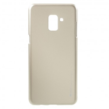 TPU gelový obal Goospery iJelly Case Samsung Galaxy A8 2018 - zlaté barvy