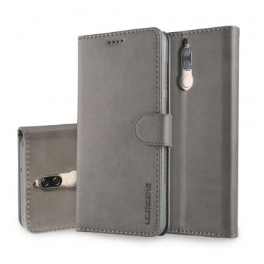 """Elegantní kryt z umělé kůže """"Wallet"""" pro Huawei Mate 10 Lite - šedý"""