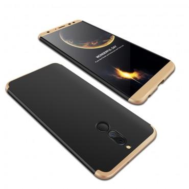 """Elegantní celotělový obal """"Sleek"""" pro Huawei Mate 10 Lite - černo-zlatý"""