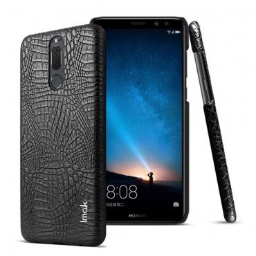 """Premium kryt """"Croc"""" pro Huawei Mate 10 Lite z pravé kůže - černý"""