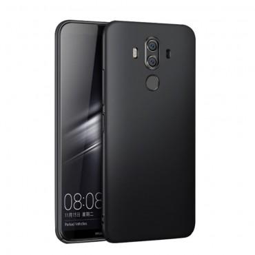 """Kryt TPU gel """"Gentle"""" pro Huawei Mate 10 Pro z umělé kůže - černý"""