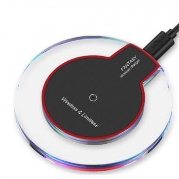 """Bezdrátová nabíjecí stanice """"Fantasy"""" pro všechna mobilní zařízení podporující QI - černá"""