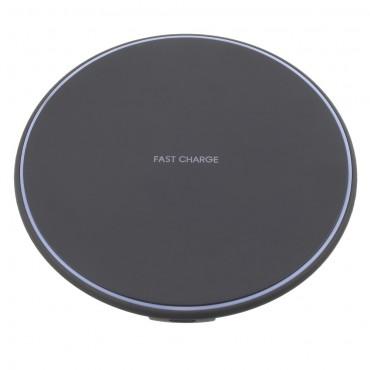 """Bezdrátová nabíjecí stanice """"Circle"""" pro všechna mobilní zařízení podporující QI - černá"""