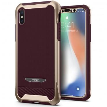 """Obal Spigen """"Reventon"""" pro iPhone X - kovově zlatý"""