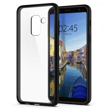 """Obal Spigen """"Ultra Hybrid"""" pro Samsung Galaxy A8 2018 - matně černý"""