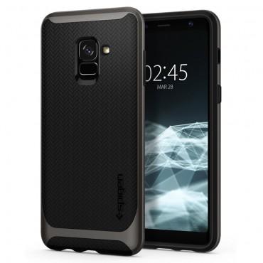 """Obal Spigen """"Neo Hybrid"""" pro Samsung Galaxy A8 2018 - kovově černý"""