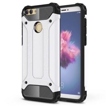 """Robustní obal """"Rock"""" pro Huawei P Smart - bílý"""