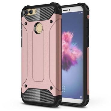 """Robustní obal """"Rock"""" pro Huawei P Smart - růžový"""