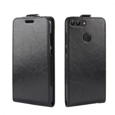Módní flipový kryt pro Huawei P Smart - černý