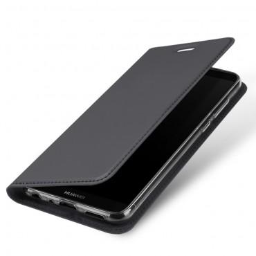 """Módní kryt z umělé kůže """"Skin"""" pro Huawei P Smart - šedý"""