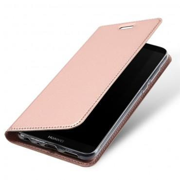 """Módní pouzdro """"Skin"""" pro Huawei P Smart z umělé kůže - růžové"""