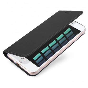 """Módní kryt z umělé kůže """"Skin"""" pro iPhone 8 / iPhone 7 - šedý"""