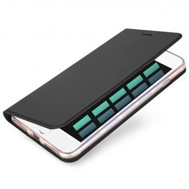 """Módní kryt z umělé kůže """"Skin"""" pro iPhone 8 / Plus iPhone 7 Plus - šedý"""