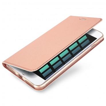 """Módní pouzdro """"Skin"""" pro iPhone 8 Plus / iPhone 7 Plus z umělé kůže - růžové"""