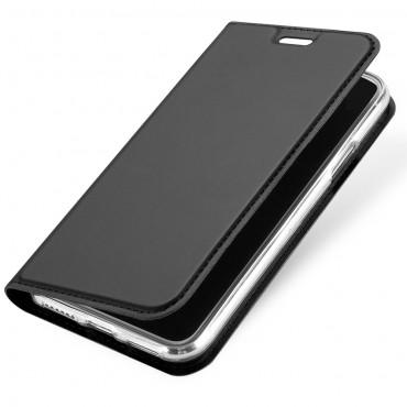 """Módní kryt z umělé kůže """"Skin"""" pro iPhone X / XS - šedý"""