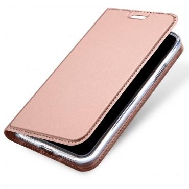 """Módní kryt z umělé kůže """"Skin"""" pro iPhone X / XS - růžový"""