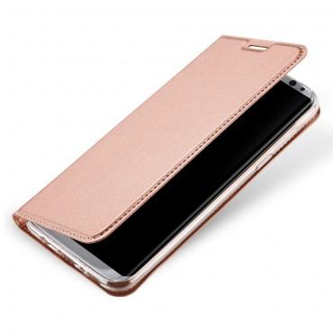 """Módní pouzdro """"Skin"""" pro Samsung Galaxy S8 Plus z umělé kůže - růžové"""