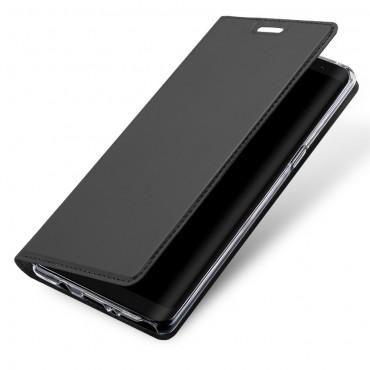 """Módní kryt z umělé kůže """"Skin"""" pro Samsung Galaxy Note 8 - šedý"""