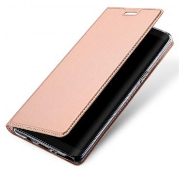 """Módní pouzdro """"Skin"""" pro Samsung Galaxy Note 8 z umělé kůže - růžové"""