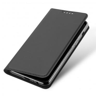 """Módní pouzdro """"Skin"""" pro Samsung Galaxy A8 2018 z umělé kůže - šedý"""