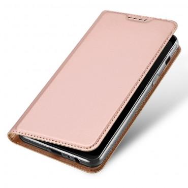 """Módní kryt z umělé kůže """"Skin"""" pro Samsung Galaxy A8 2018 - růžový"""