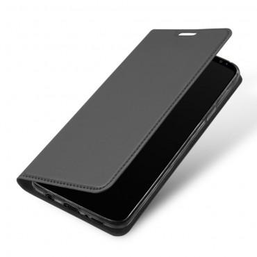 """Módní kryt z umělé kůže """"Skin"""" pro Samsung Galaxy S9 Plus - šedý"""