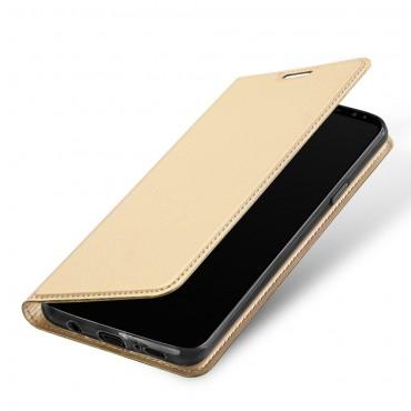 """Módní kryt z umělé kůže """"Skin"""" pro Samsung Galaxy S9 Plus - zlaté barvy"""
