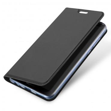"""Módní kryt z umělé kůže """"Skin"""" pro Huawei Mate 10 Lite - šedý"""