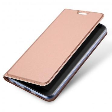 """Módní pouzdro """"Skin"""" pro Huawei Mate 10 Lite z umělé kůže - růžové"""