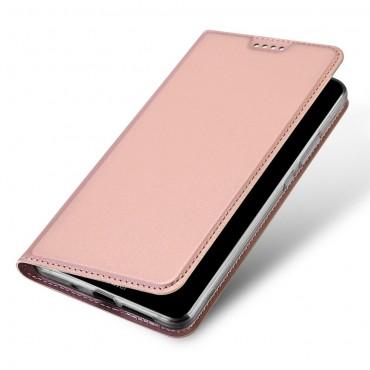 """Módní pouzdro """"Skin"""" pro Huawei Mate 10 Proz umělé kůže - růžové"""