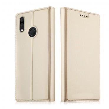 """Módní pouzdro """"Skin"""" pro Huawei P20 Lite z umělé kůže - zlatý"""