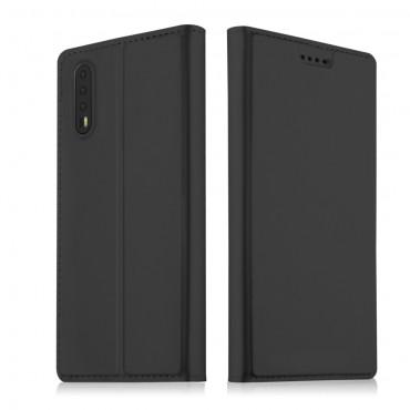 """Módní pouzdro """"Skin"""" pro Huawei P20 Pro z umělé kůže - černé"""