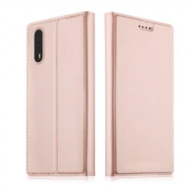 """Módní pouzdro """"Skin"""" pro Huawei P20 Pro z umělé kůže - růžové"""