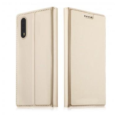 """Módní pouzdro """"Skin"""" pro Huawei P20 Pro z umělé kůže - zlatý"""