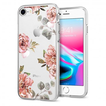 "Kryt Spigen ""Liquid Crystal"" pro iPhone 8 / iPhone 7 - aquarelle rose"