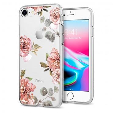 "Obal Spigen ""Liquid Crystal"" pro iPhone 8 / iPhone 7 - akvarelově růžový"